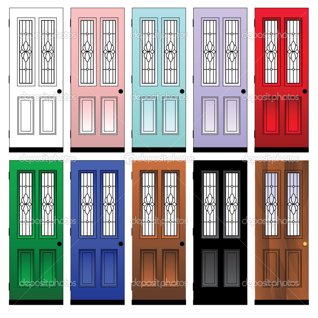 Coloured Doors \u2014 Stock Vector  sc 1 st  Depositphotos & Coloured Doors \u2014 Stock Vector © emirsimsek #3768382