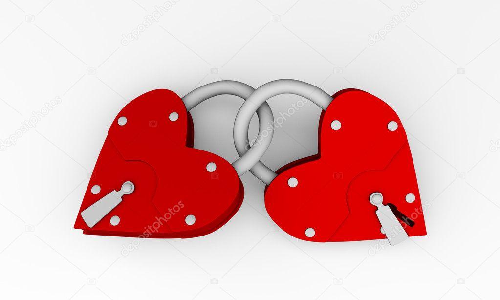 heart lock stock photo denisart 3598468