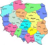 Fotografia Vector mappa Polonia