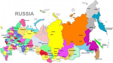 Vector Russian federation map