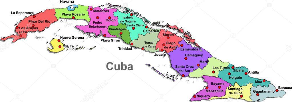 ᐈ Mapa De Cuba Vector De Stock Vectores Vector Mapa Cuba Descargar En Depositphotos
