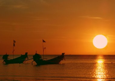 Golden sunset, Tao island, Thailand