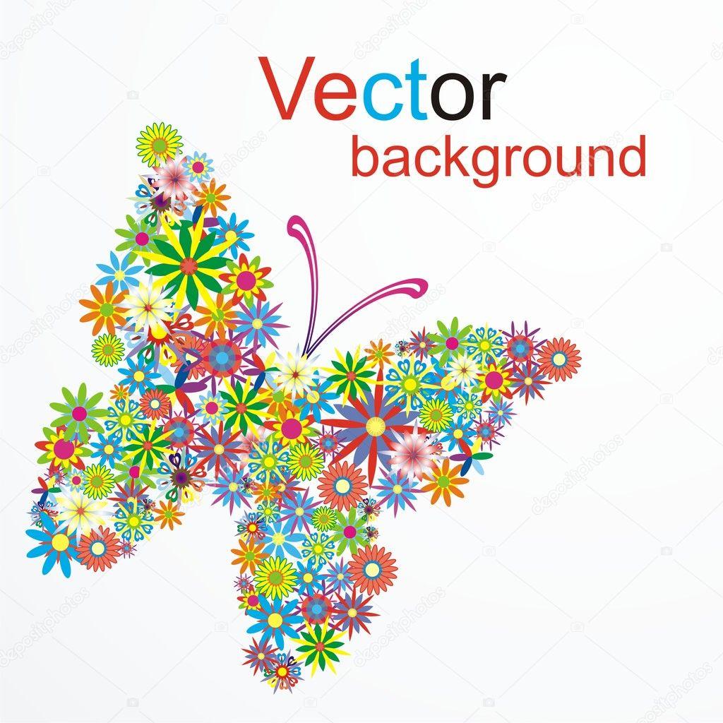 Vector dream butterfly