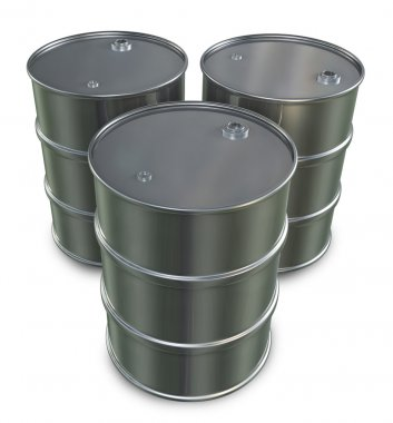 Three Oil Drums