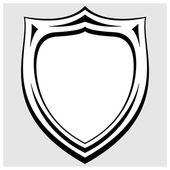 Heraldický odznak vektoru černé a bílé