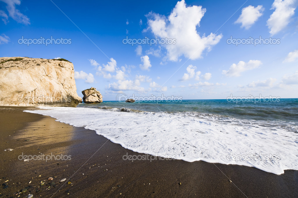Goddess Aphrodite rock in Cyprus