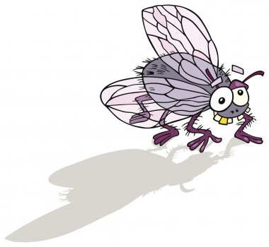 Illustration of funny fly insect stock vector