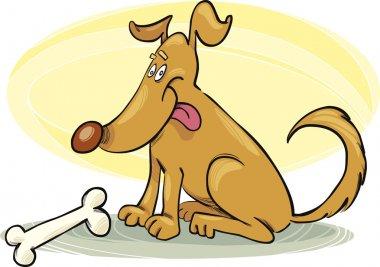Happy Dog with Bone