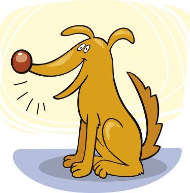 Dog's tricks: bark
