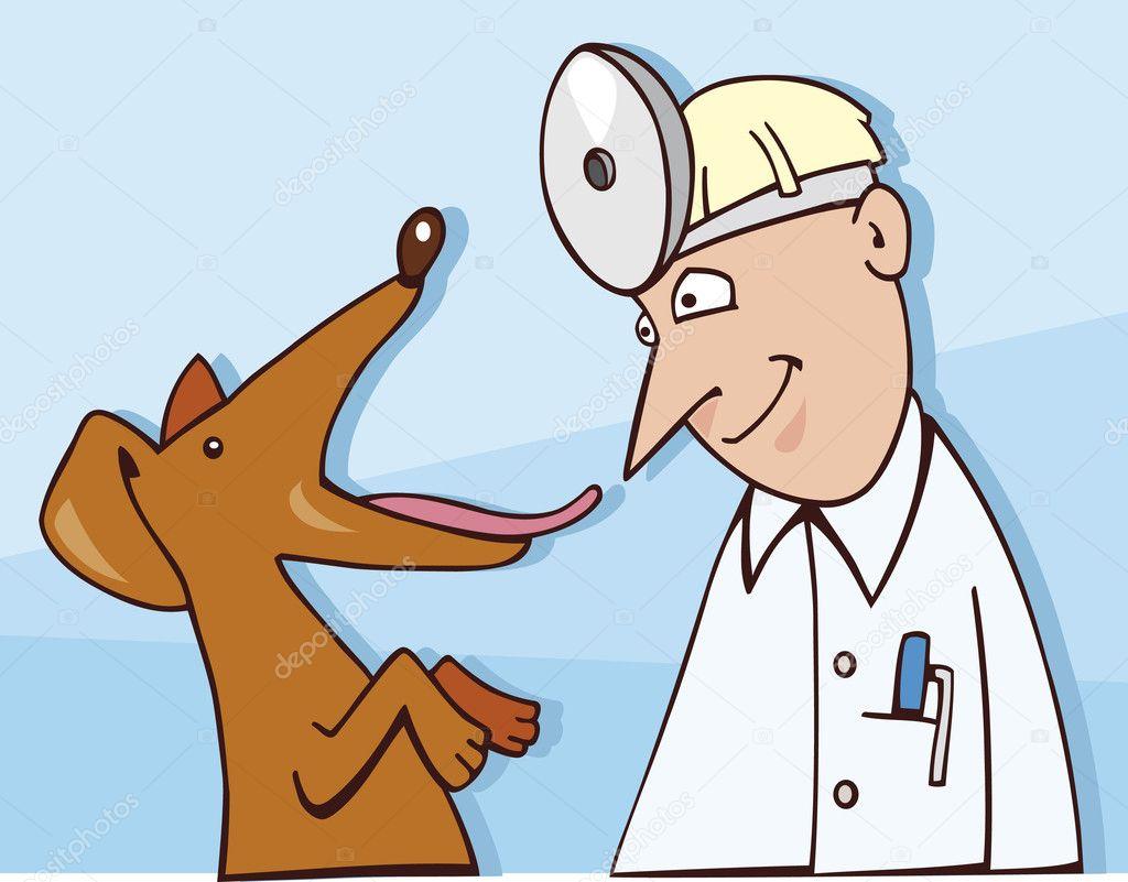 perro al veterinario — Archivo Imágenes Vectoriales © izakowski #3676978