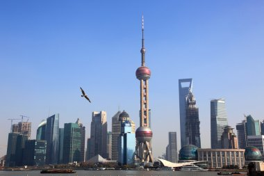 Shanghai Skyline with oriental pearl tower,