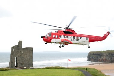 Sea rescue hovering