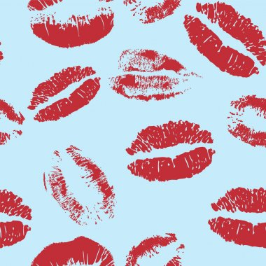 Seamless kiss vector