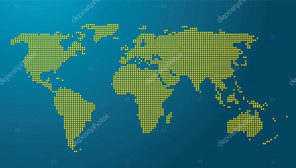 carte du monde avec globe terrestre image vectorielle beholdereye 3742751. Black Bedroom Furniture Sets. Home Design Ideas