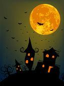 Fotografie Halloween noc s úplněk