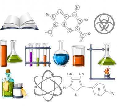 Science and Chemistry Icons stock vector