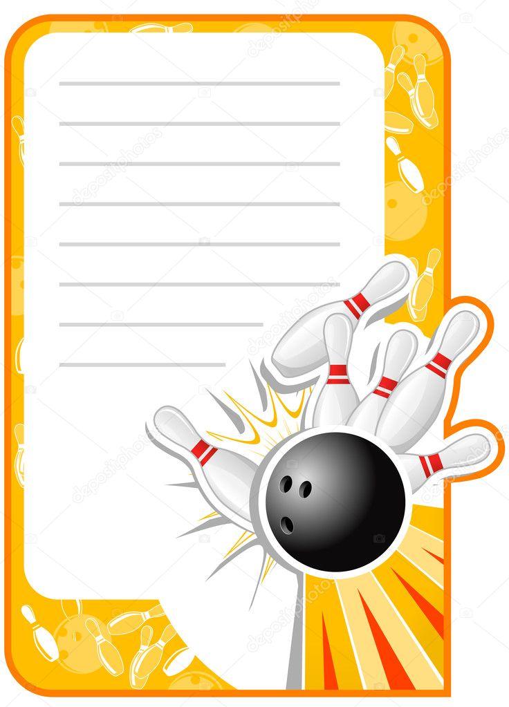 bowling einladung — stockvektor #3757083, Einladung