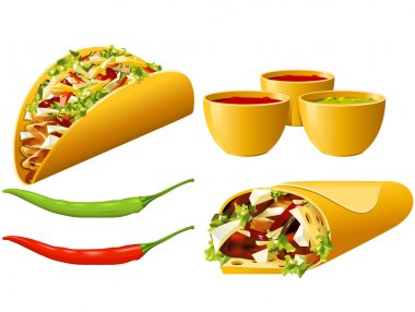 Food series - Mexican stock vector