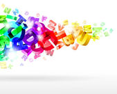 abstrakte Regenbogenbuchstaben
