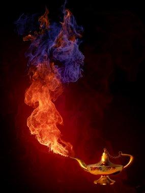 Gold magic Aladdin's Lamp