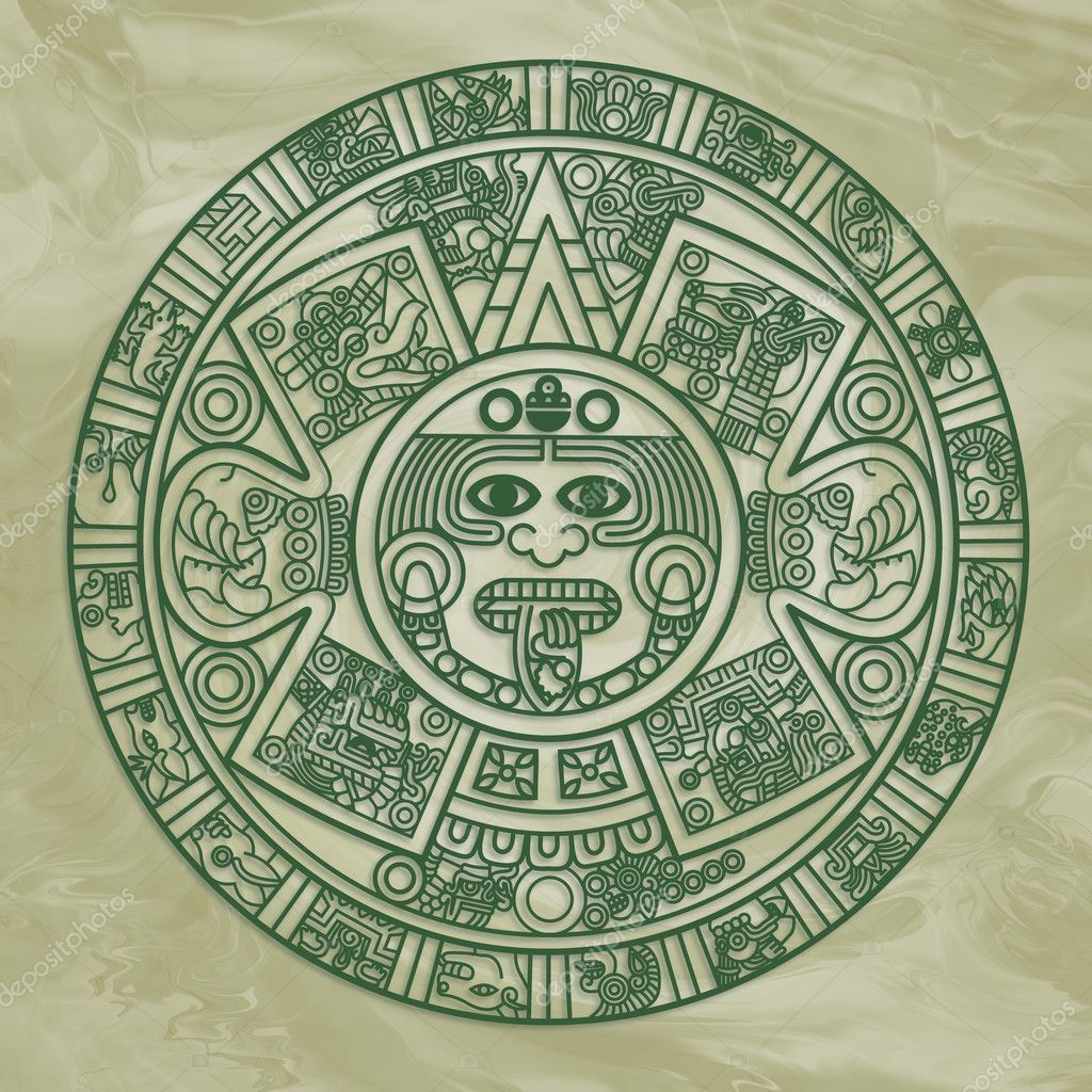 Calendario Azteca estilizada — Foto de stock © epic22 #3761073