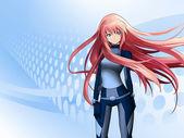 futurisztikus anime lány
