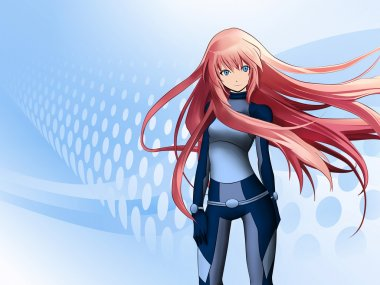 Futuristic anime girl