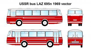 LAZ 695n 1969 vector