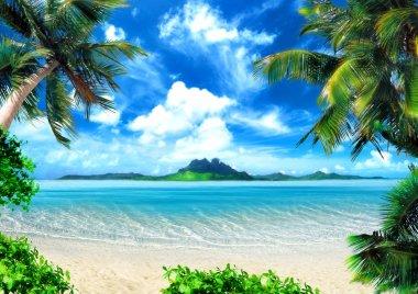"""Картина, постер, плакат, фотообои """"волшебное побережье """", артикул 3901221"""