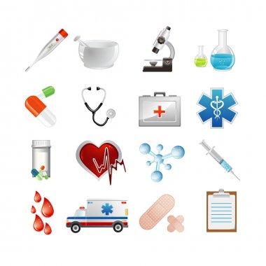 Vector illustration of medical icons clip art vector