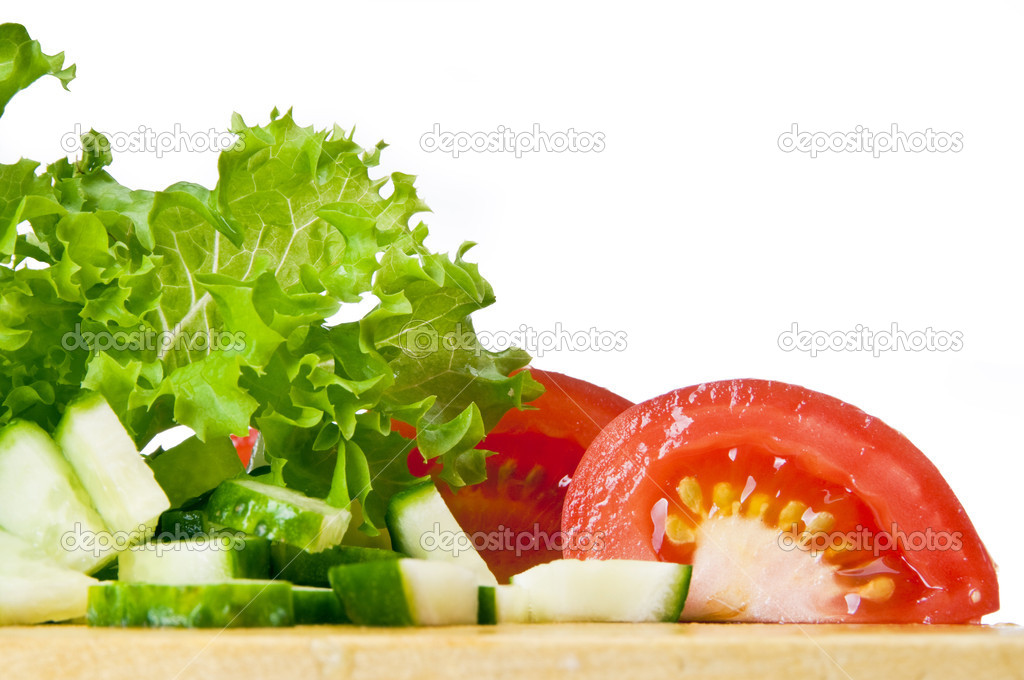 Fresh ingredients for a salad