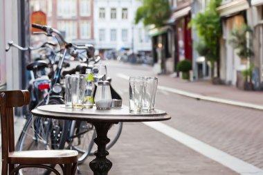 The street scene in Amsterdam