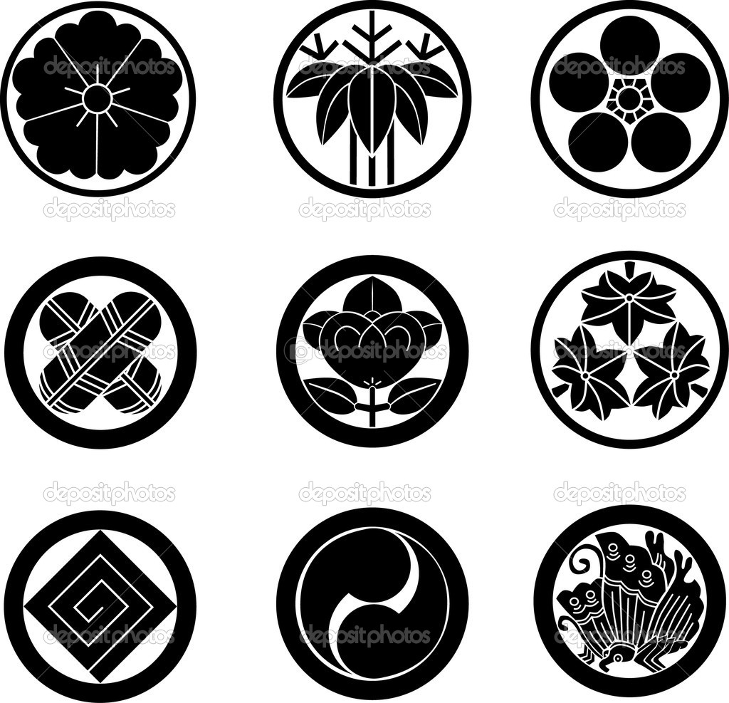 Japanese family crests vector stock vector aryunet 3802631 historical japanese family crests nine types vector by aryunet biocorpaavc Gallery