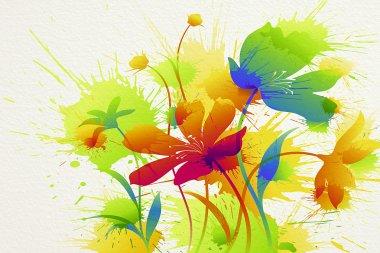 "Картина, постер, плакат, фотообои ""цветочная живопись"", артикул 3857215"