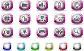 webové stránky a internetové ikony