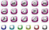 databáze a sítě ikony