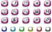 ikony panelu nástrojů a rozhraní