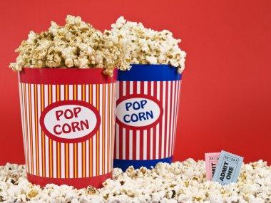 Two popcorn buckets