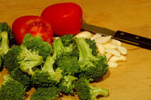 Brocolli Garlic and Tomatoes