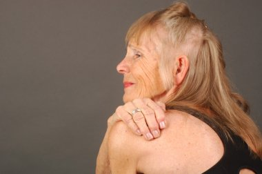 Elderly woman with Pain