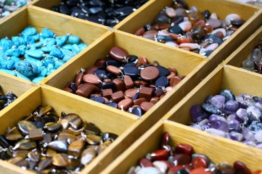 Multicolored trinket stones