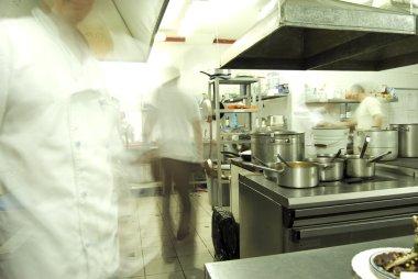 Kitchen with staff