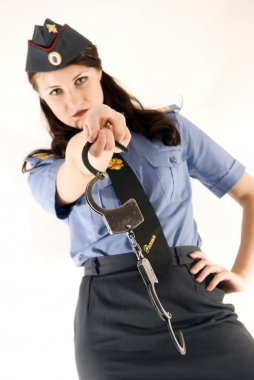 Policeman close-up