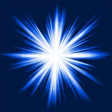 Blue light, star burst, abstract lens flare, fireworks