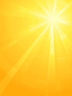 Yellow orange asymmetric sun light burst