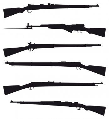 Six old shotguns