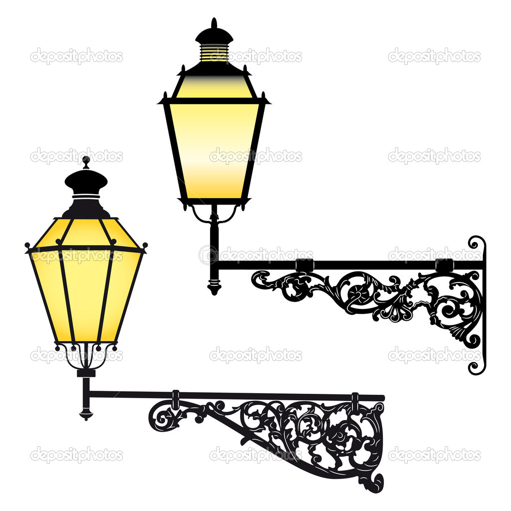Wall street lamps Stock Vector ? mannaggia #3902835