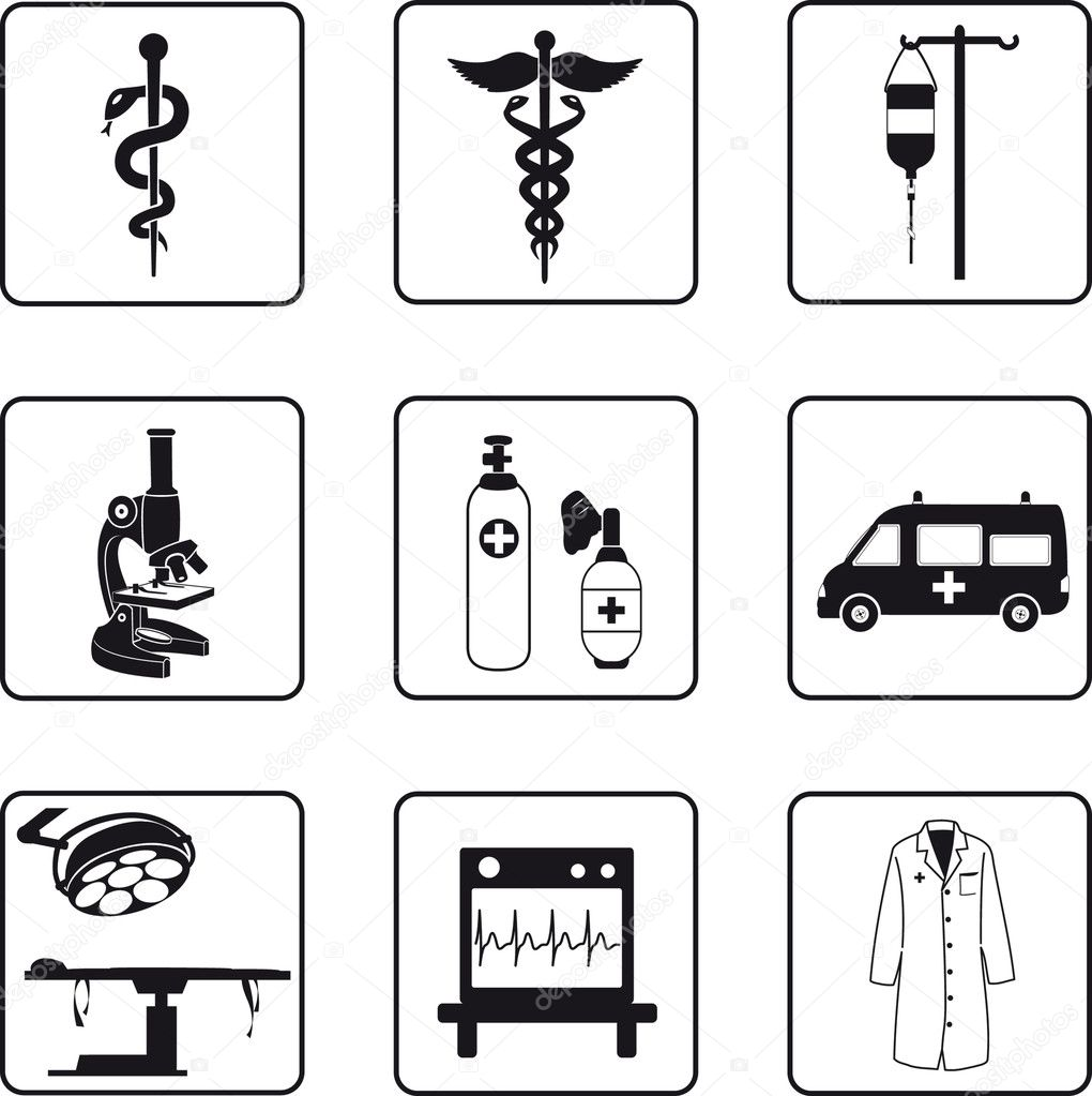 Medical symbols and equipment stock vector mannaggia 3903512 medical symbols and equipment stock vector biocorpaavc Choice Image