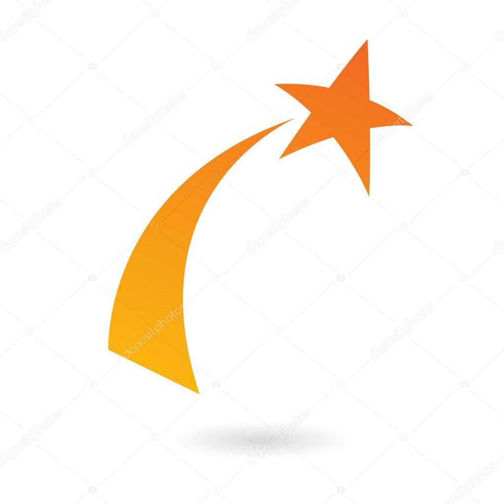 orange shooting star stock vector cidepix 3882898 rh depositphotos com shooting star logo hd shooting star chase logo