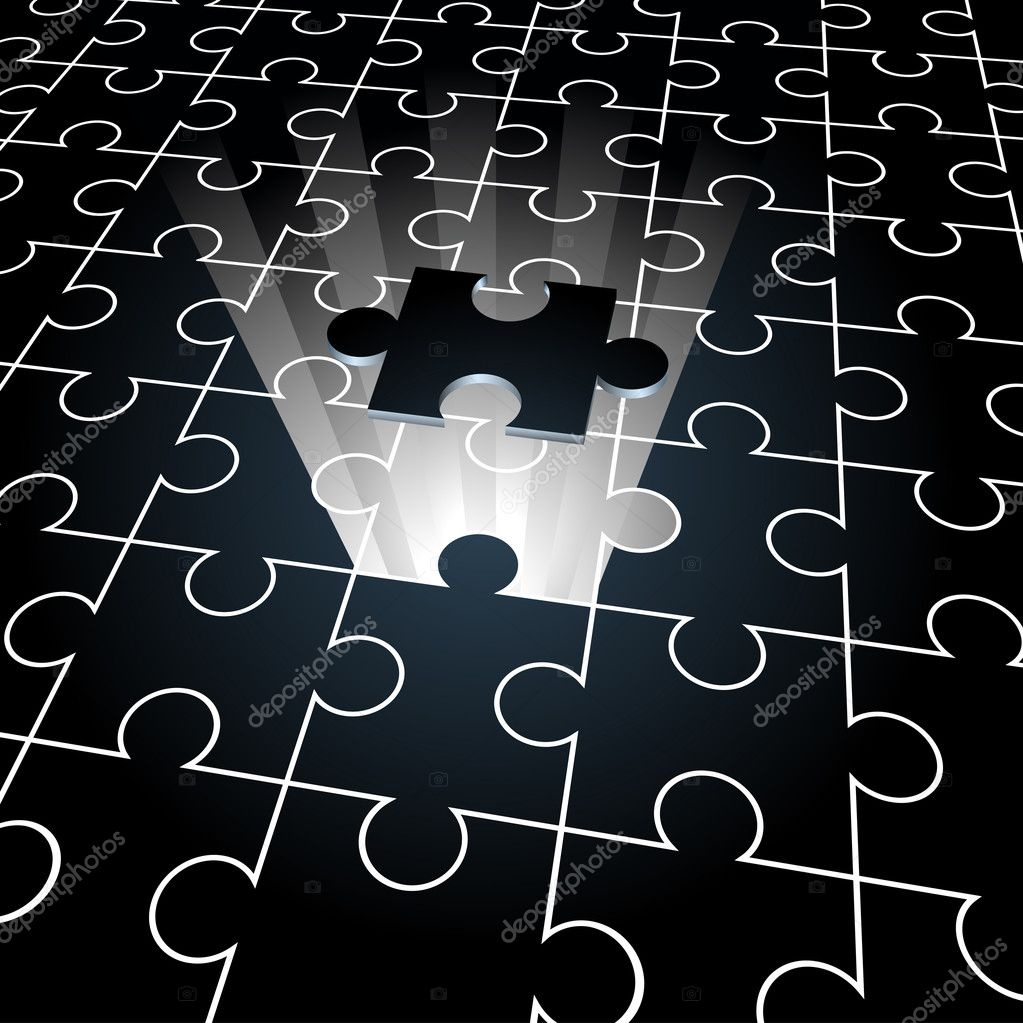 Jigsaw puzzle: the missing piece — Stock Vector © cidepix ...
